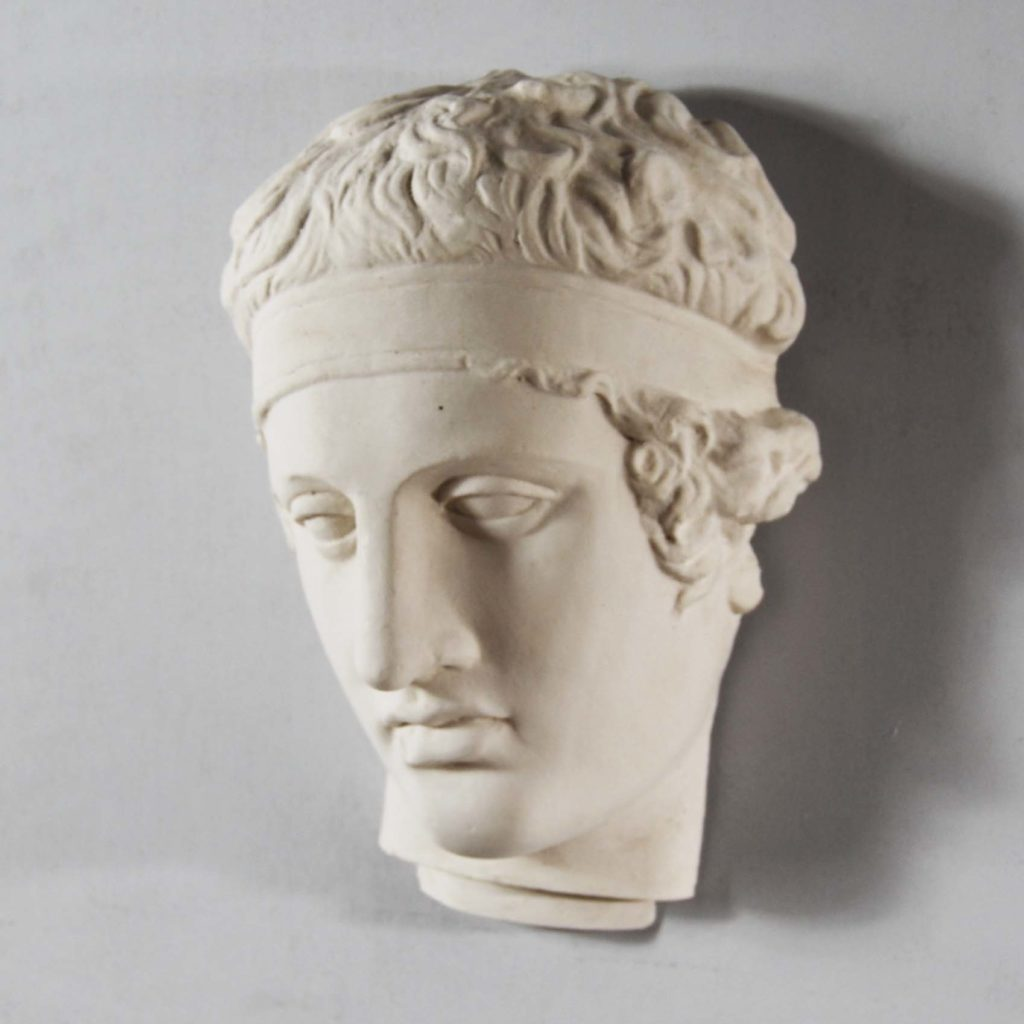 A plaster mask of an athlete-122934
