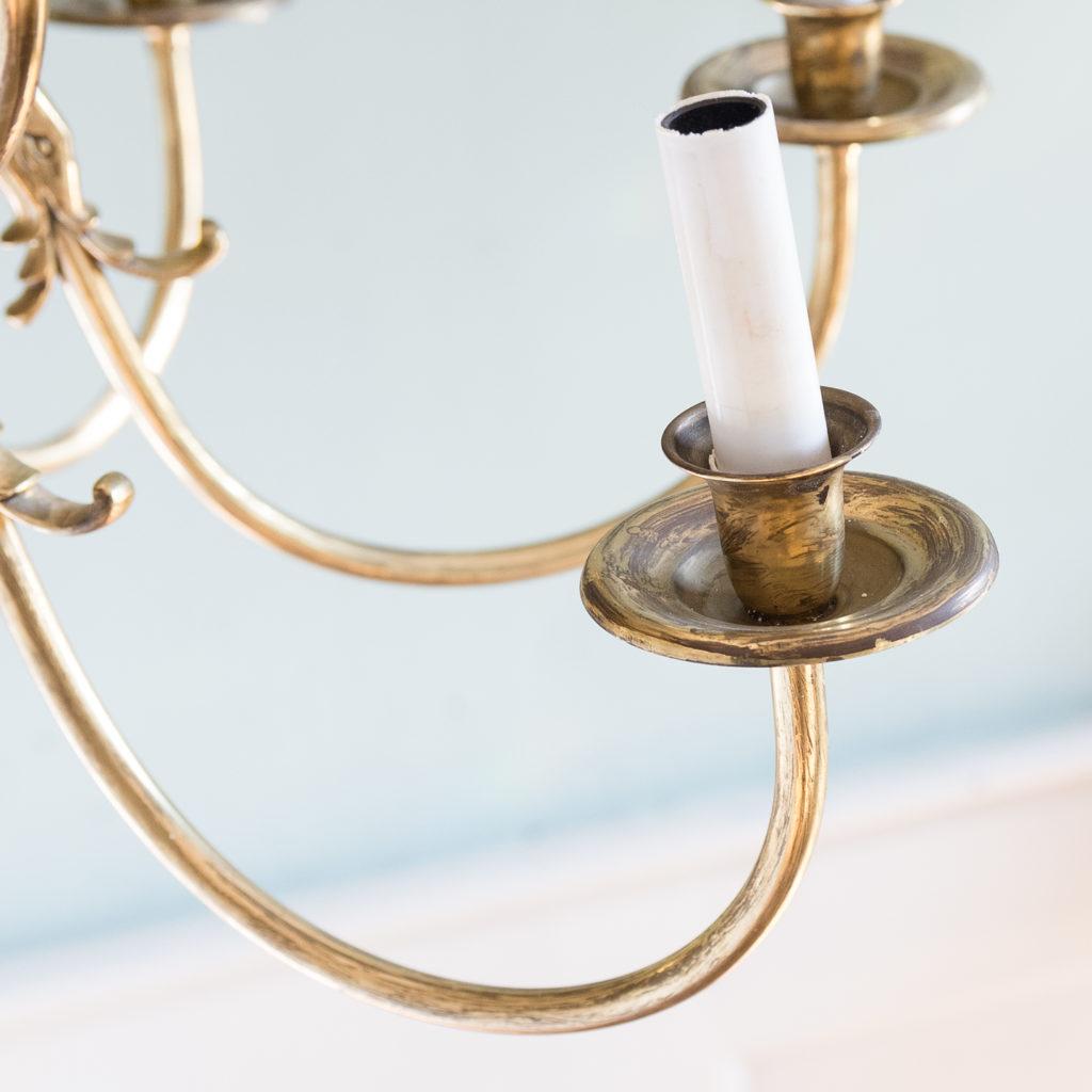 Sixteen light Flemish style brass chandelier,-122469