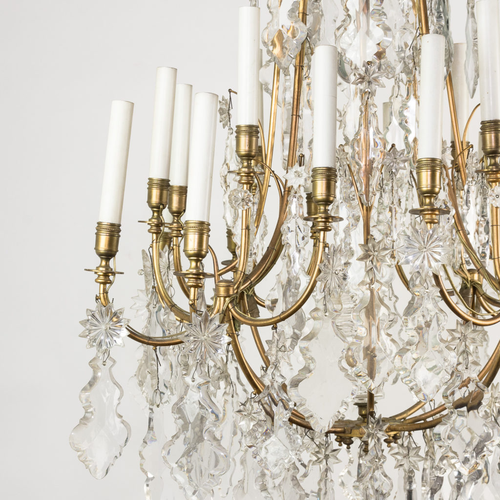 French early twentieth century gilt-metal sixteen light chandelier,