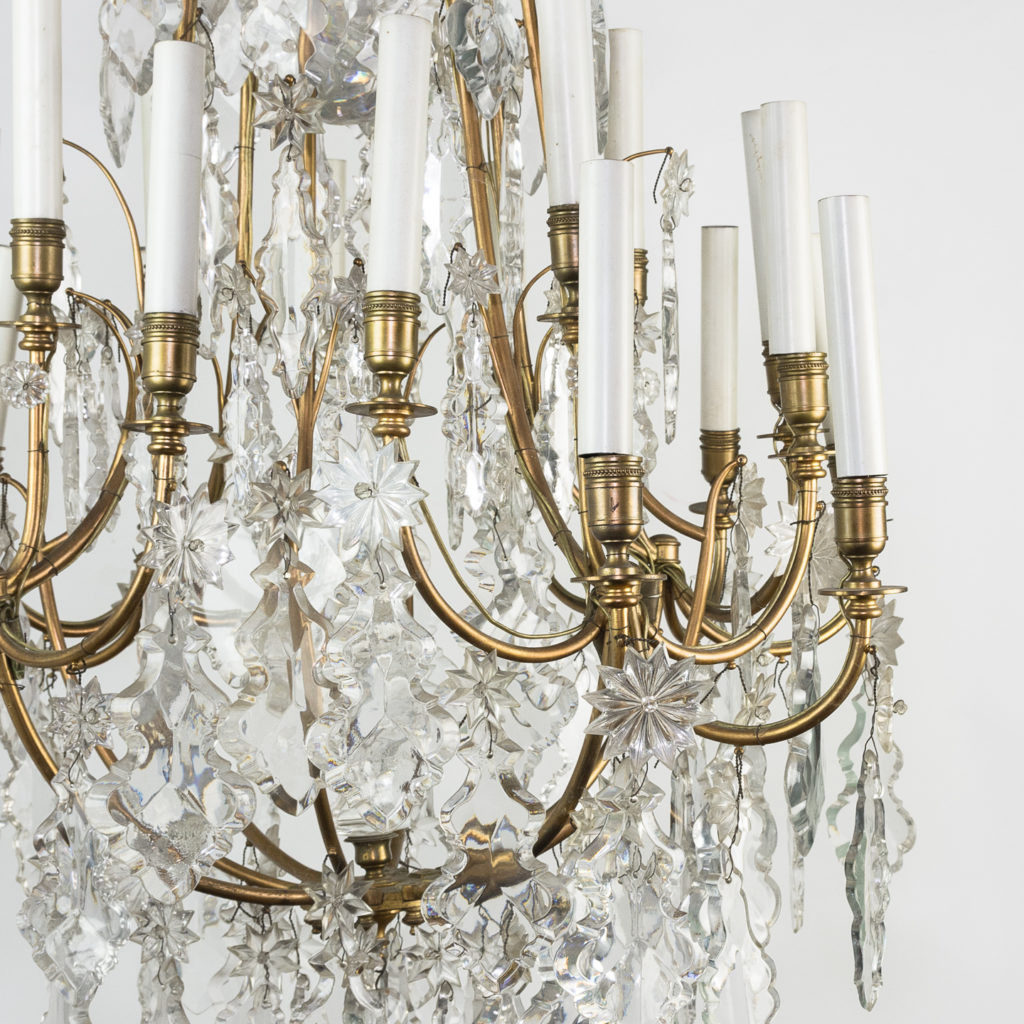 French early twentieth century gilt-metal sixteen light chandelier,-123131