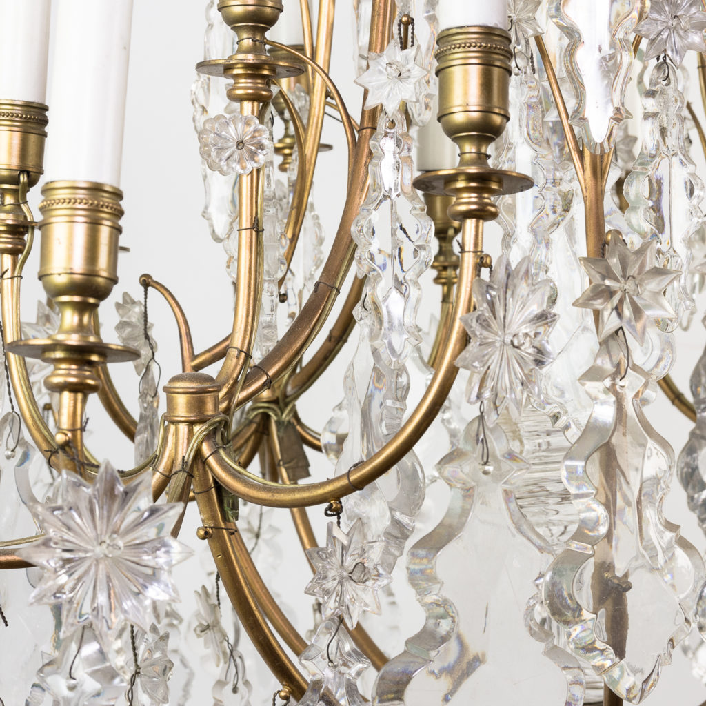 French early twentieth century gilt-metal sixteen light chandelier,-123127
