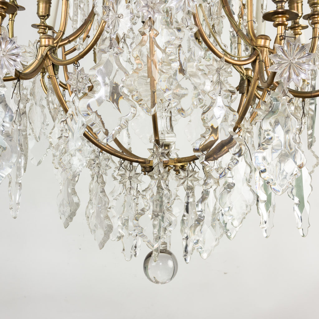 French early twentieth century gilt-metal sixteen light chandelier,-123130