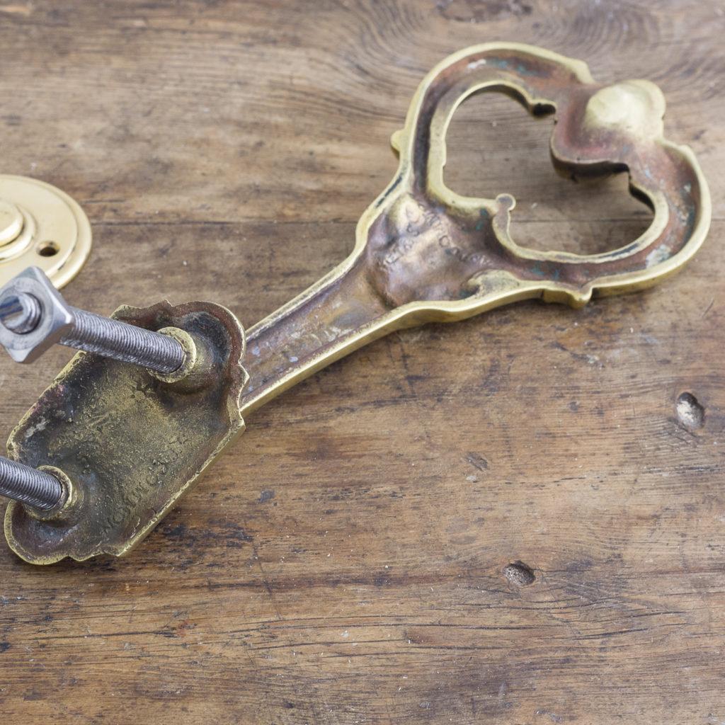 Nineteenth century brass door knocker,-122475