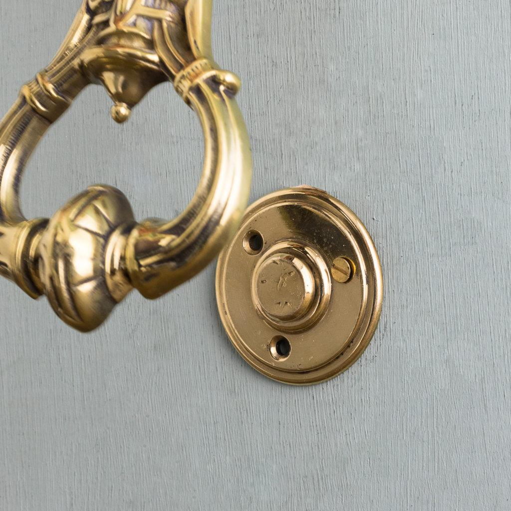 Nineteenth century brass door knocker,-122476