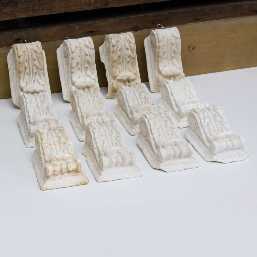 A number of Victorian cast plaster modillions