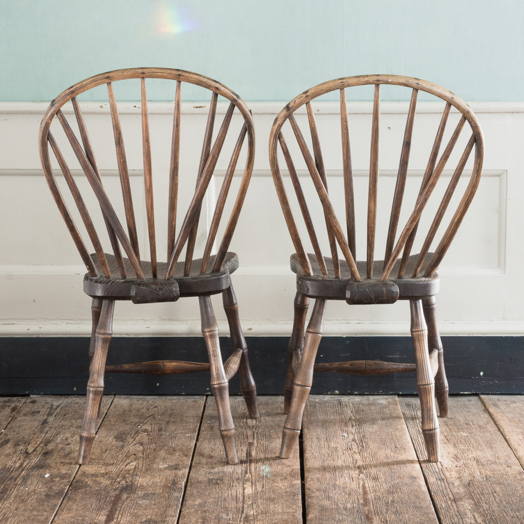 Pair of early nineteenth century Windsor side chairs, -122544
