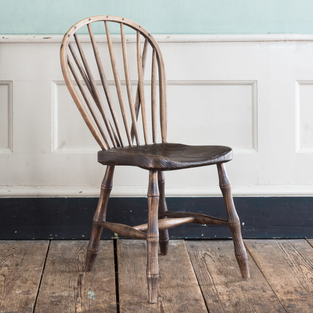 Pair of early nineteenth century Windsor side chairs, -122532