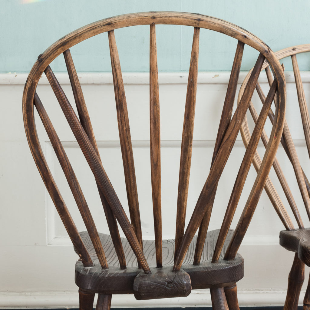 Pair of early nineteenth century Windsor side chairs, -122545