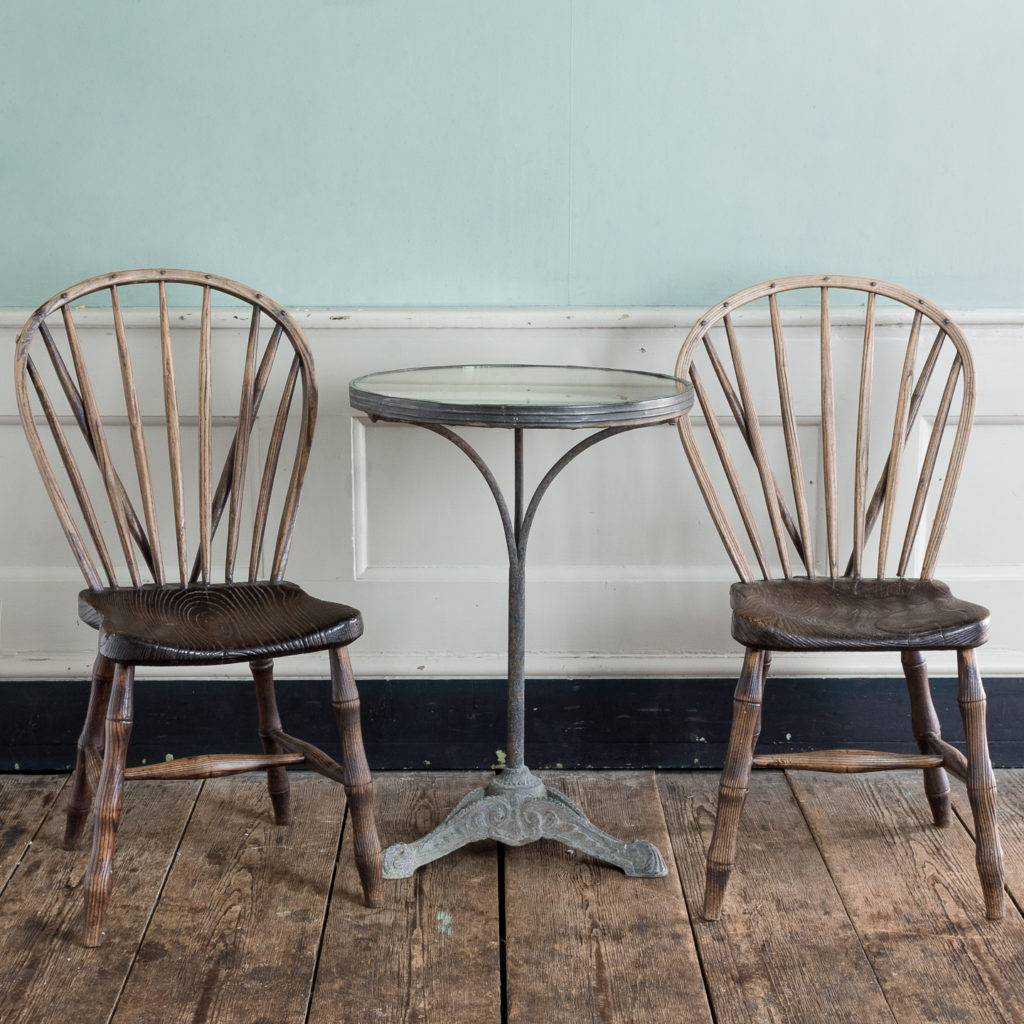 Pair of early nineteenth century Windsor side chairs, -122538