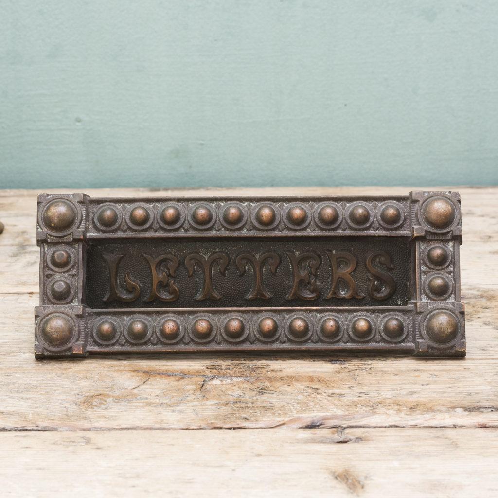 Victorian brass door furniture suite,-123056