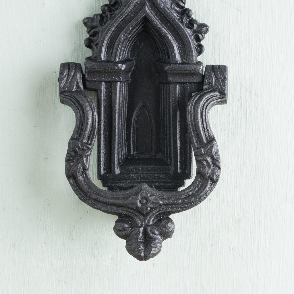 Victorian Gothic cast iron door knocker,-123161