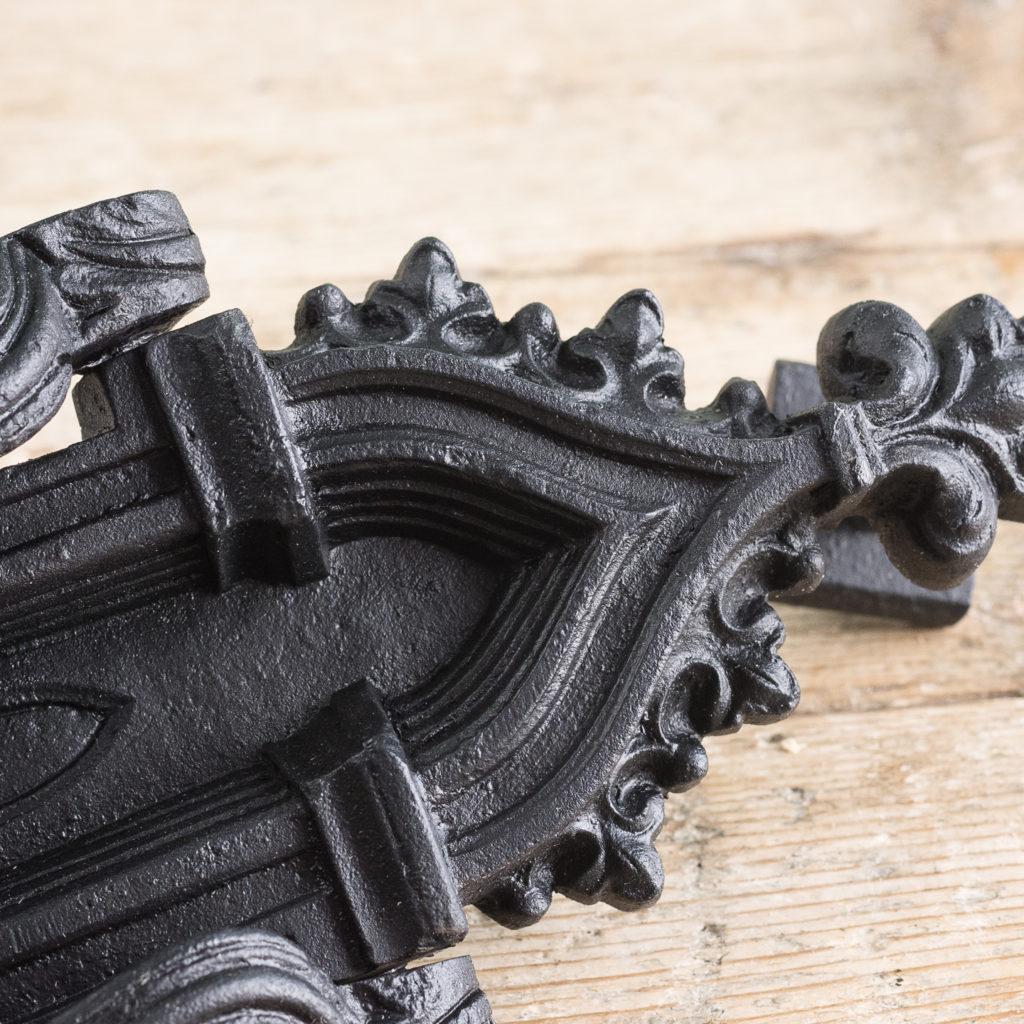 Victorian Gothic cast iron door knocker,-123164