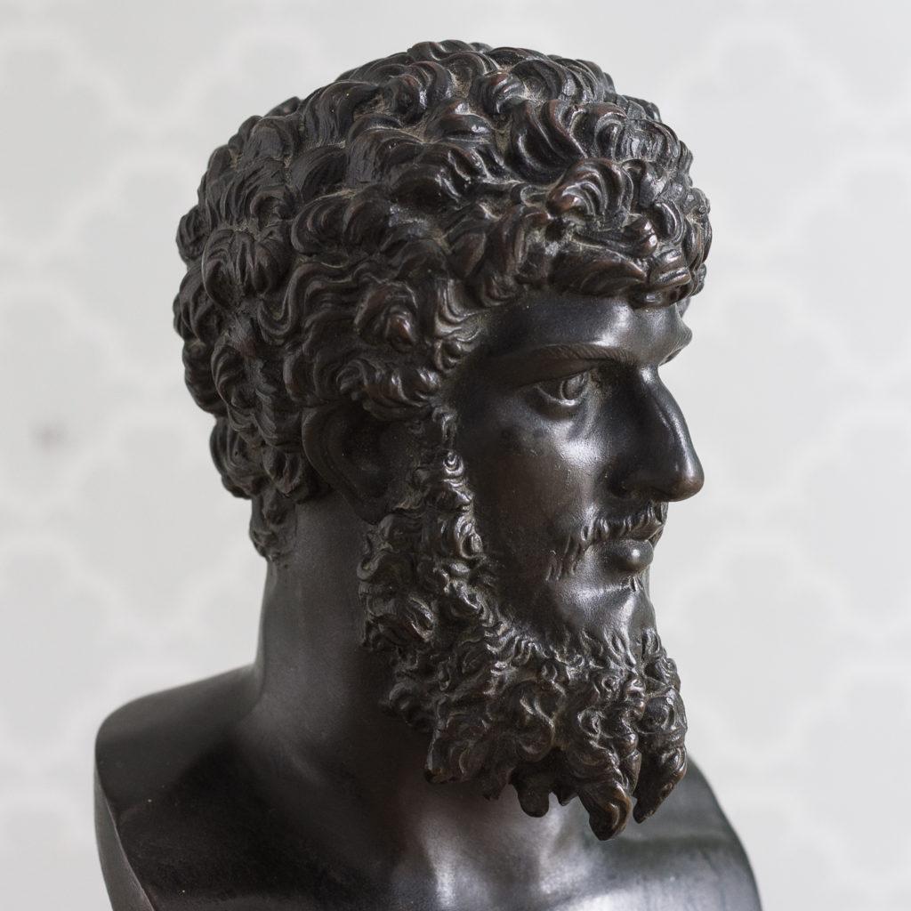 Italian mid-nineteenth century bronze bust of Lucius Verus,