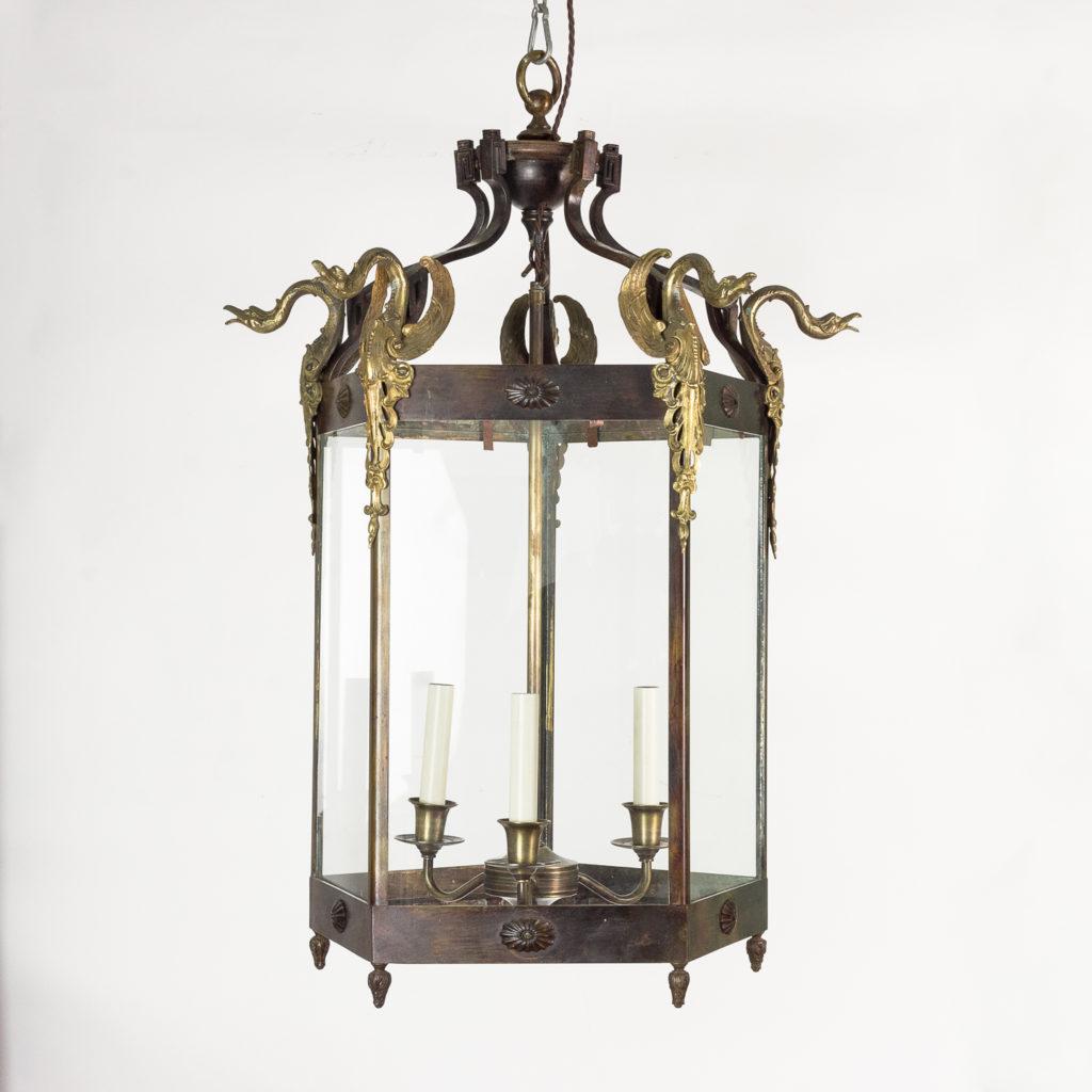Late nineteenth century French Empire style hall lantern