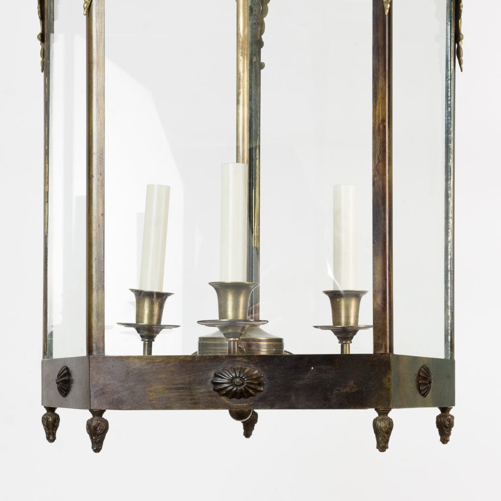 Late nineteenth century French Empire style hall lantern, -122585
