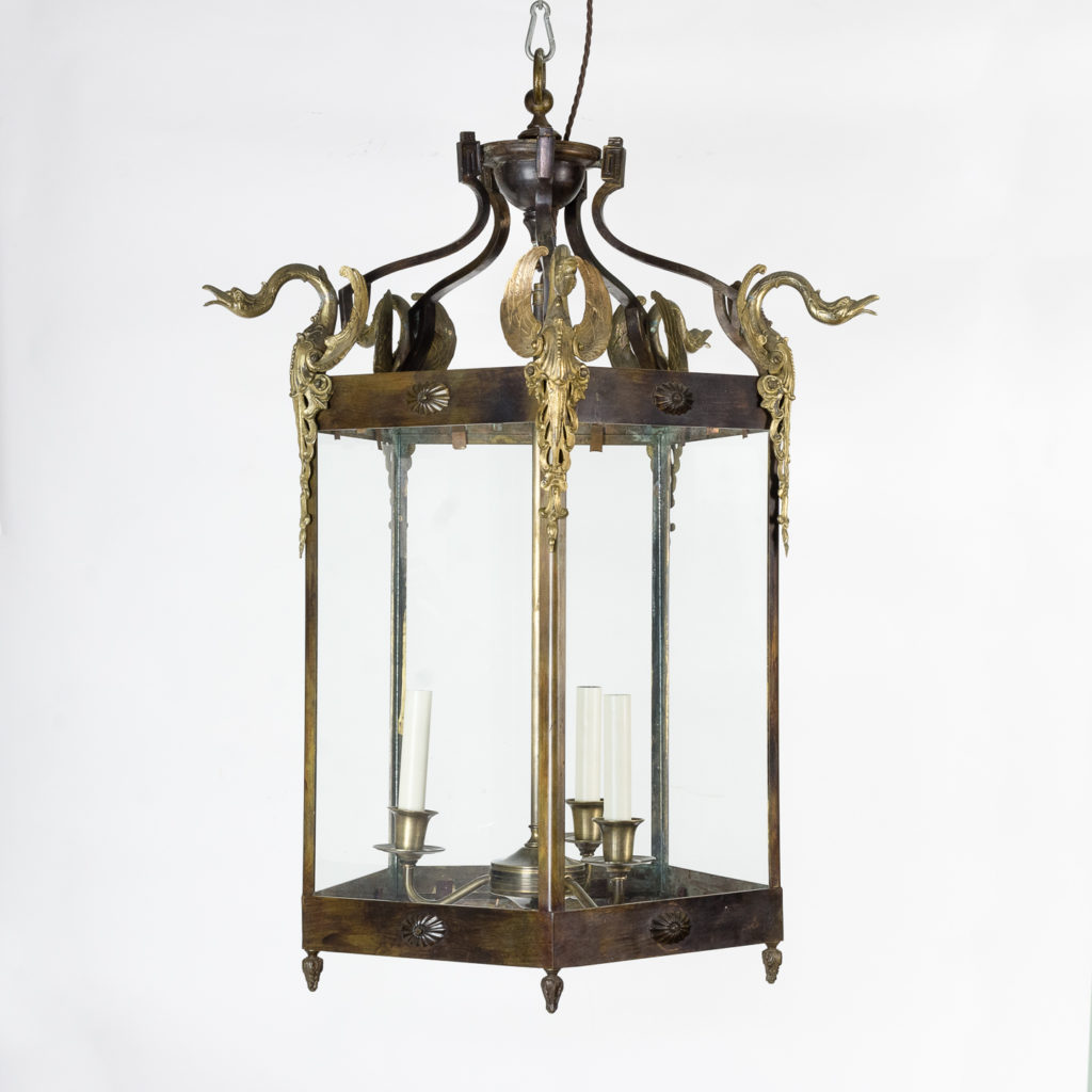 Late nineteenth century French Empire style hall lantern