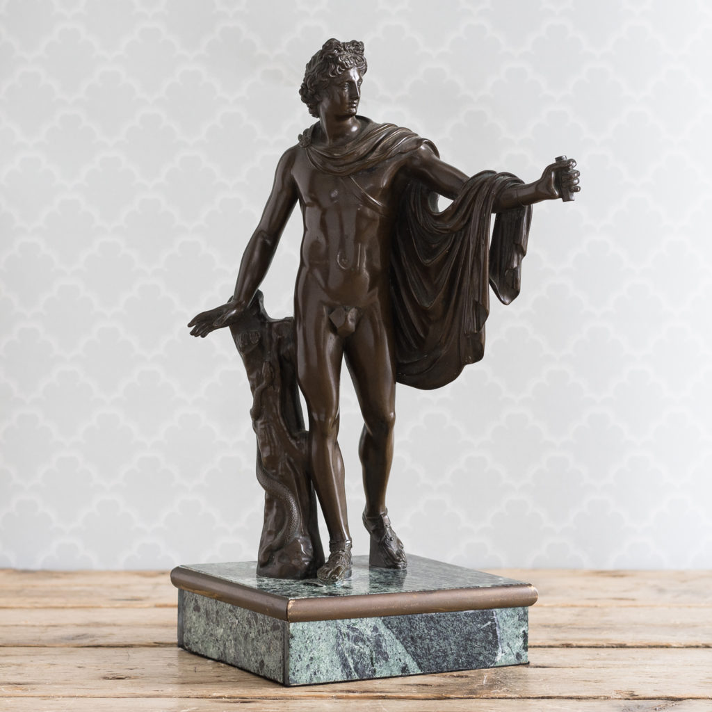 Nineteenth century Italian bronze of 'The Apollo Belvedere',