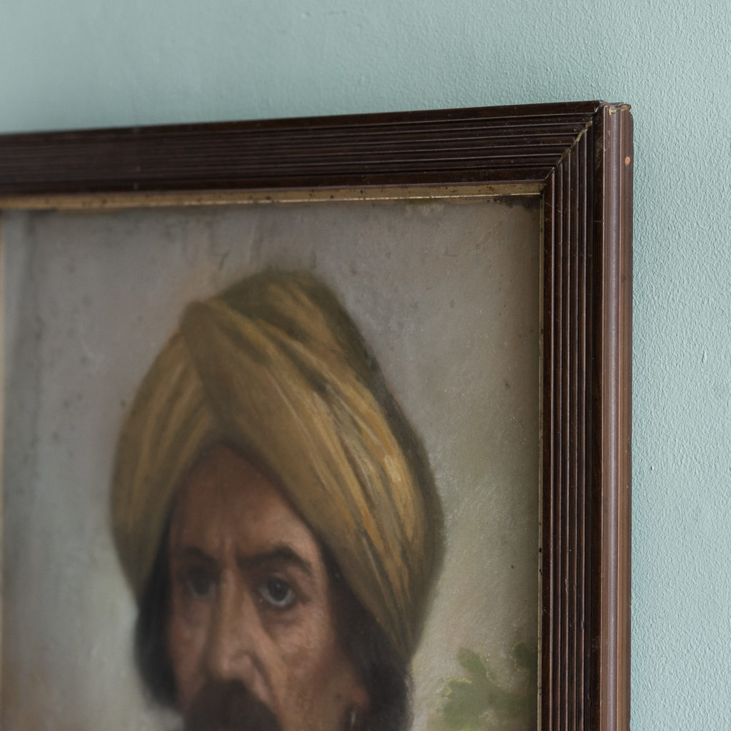 Portrait of a gentleman wearing a turban-122525