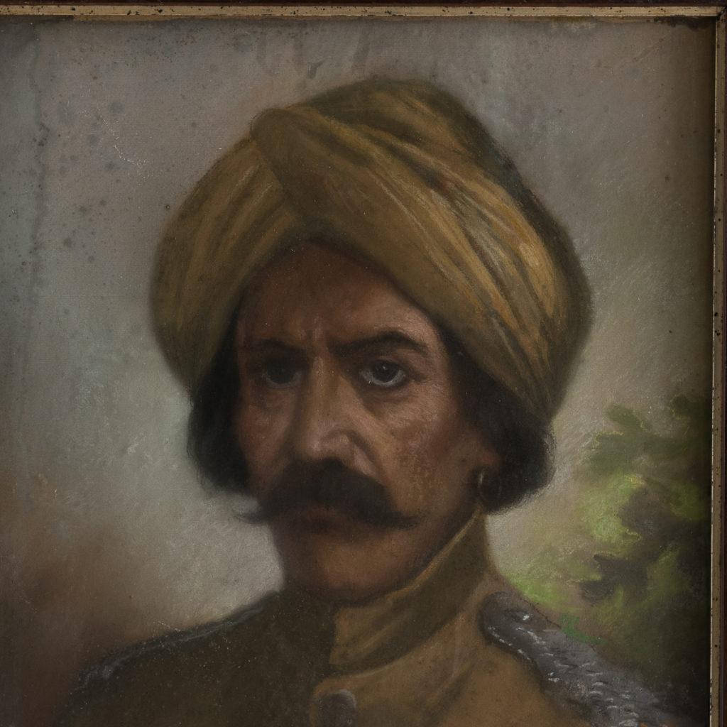 Portrait of a gentleman wearing a turban-122528