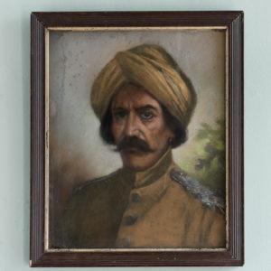 Portrait of a gentleman wearing a turban-0
