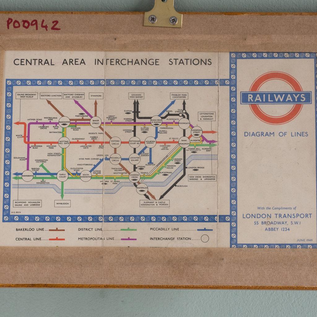 London Transport map 1949