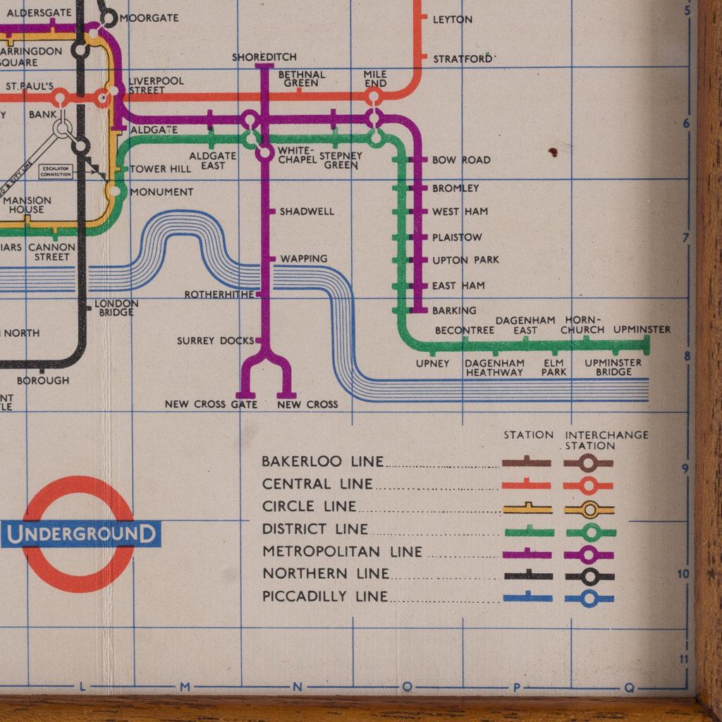 London Underground map 1957
