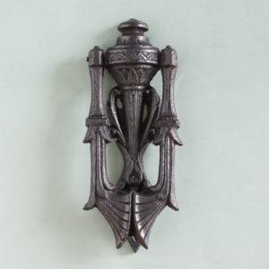 Victorian cast iron door knocker,