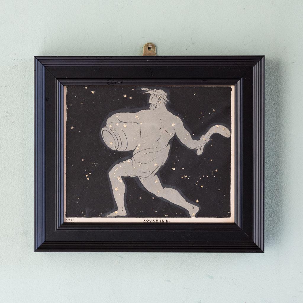 Original astronomy prints published 1843 'Aquarius'.