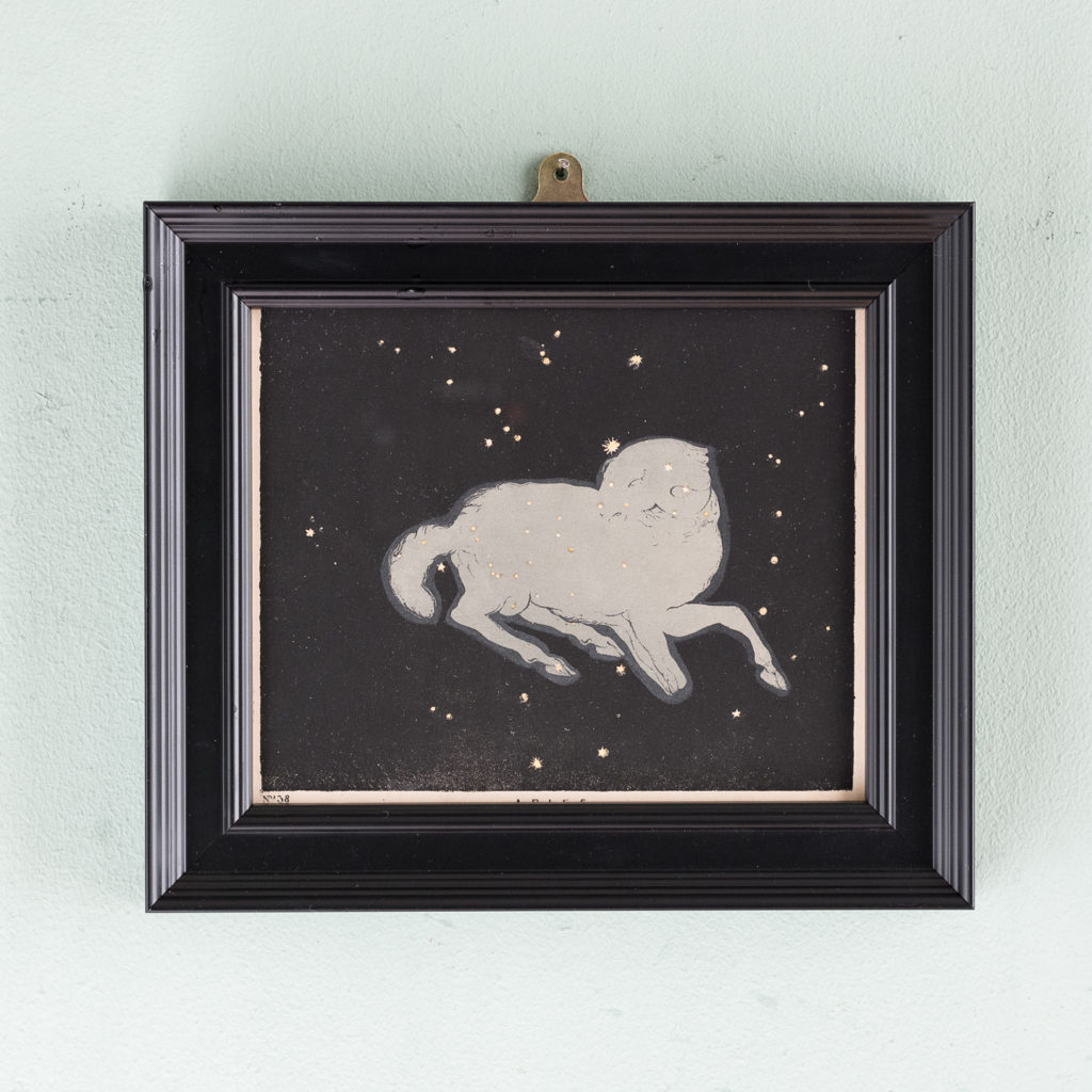 Original astronomy prints published 1843, Aries