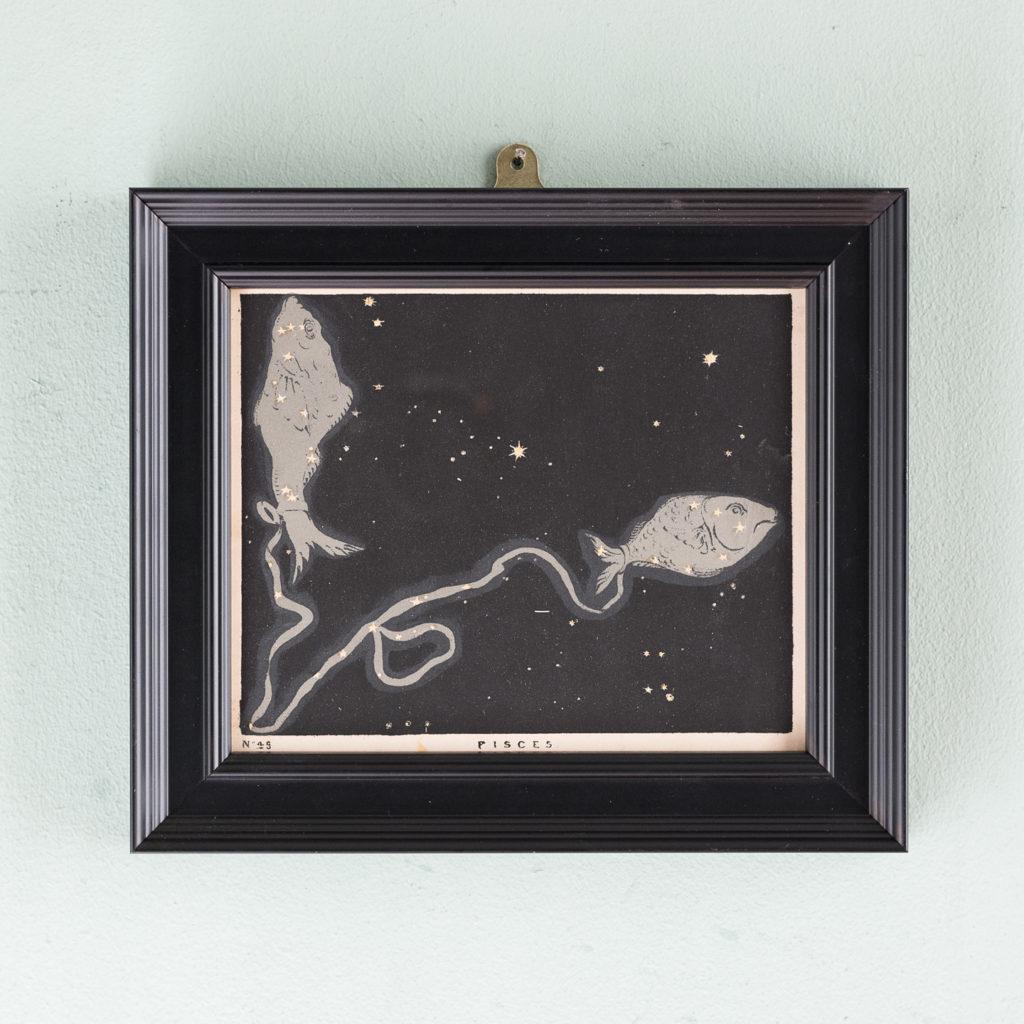Original astronomy prints published 1843, Pisces