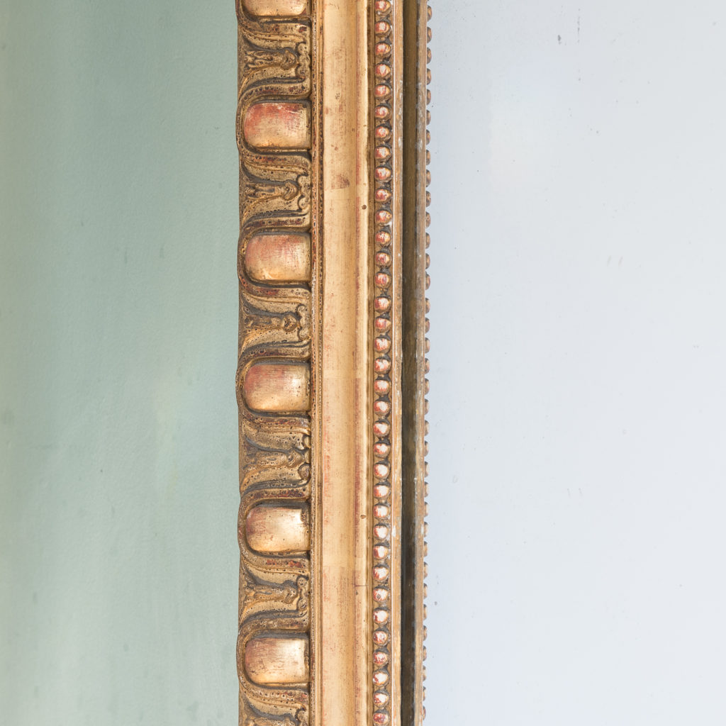 Mid nineteenth century French gilded wall mirror,-124304