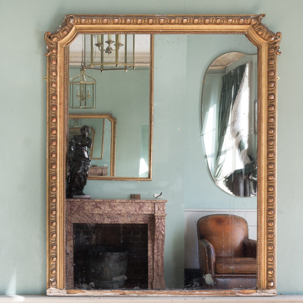 Nineteenth century French gilded mirror