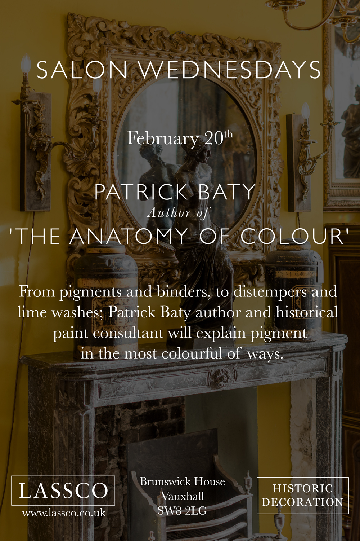 Invite to Anatomy of Colour talk at Brunswick House, 20th of Feb 2019