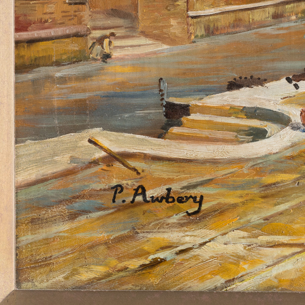 signed by P. Aubrey, circa 1940,