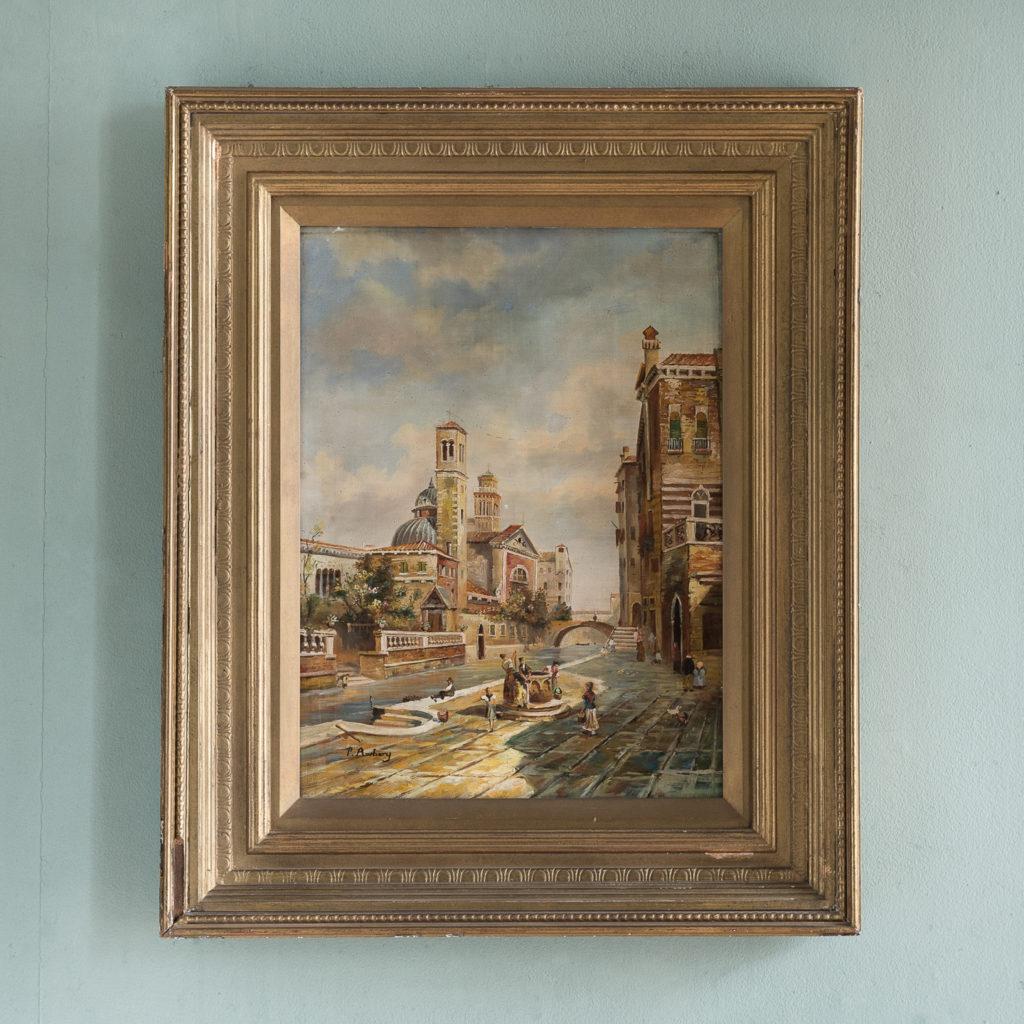 Venetian capriccio oil painting,