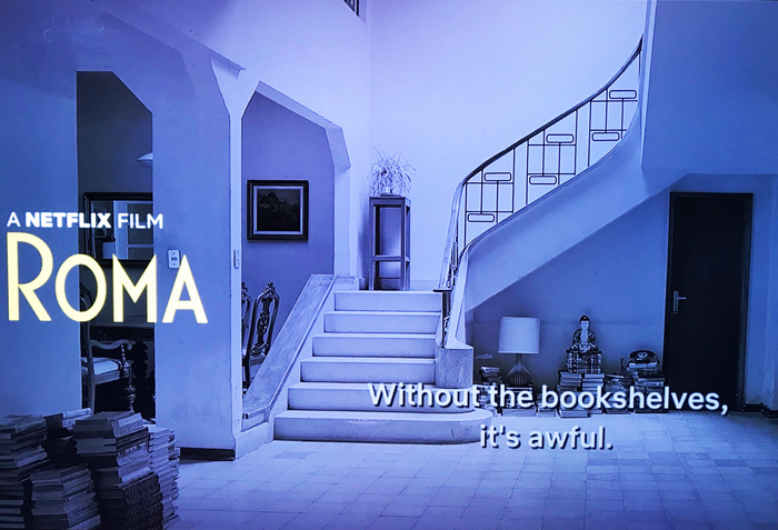 Roma - the bookcases are gone.