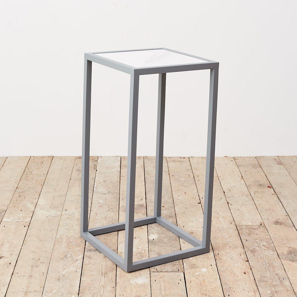 Marble top plinth,-0