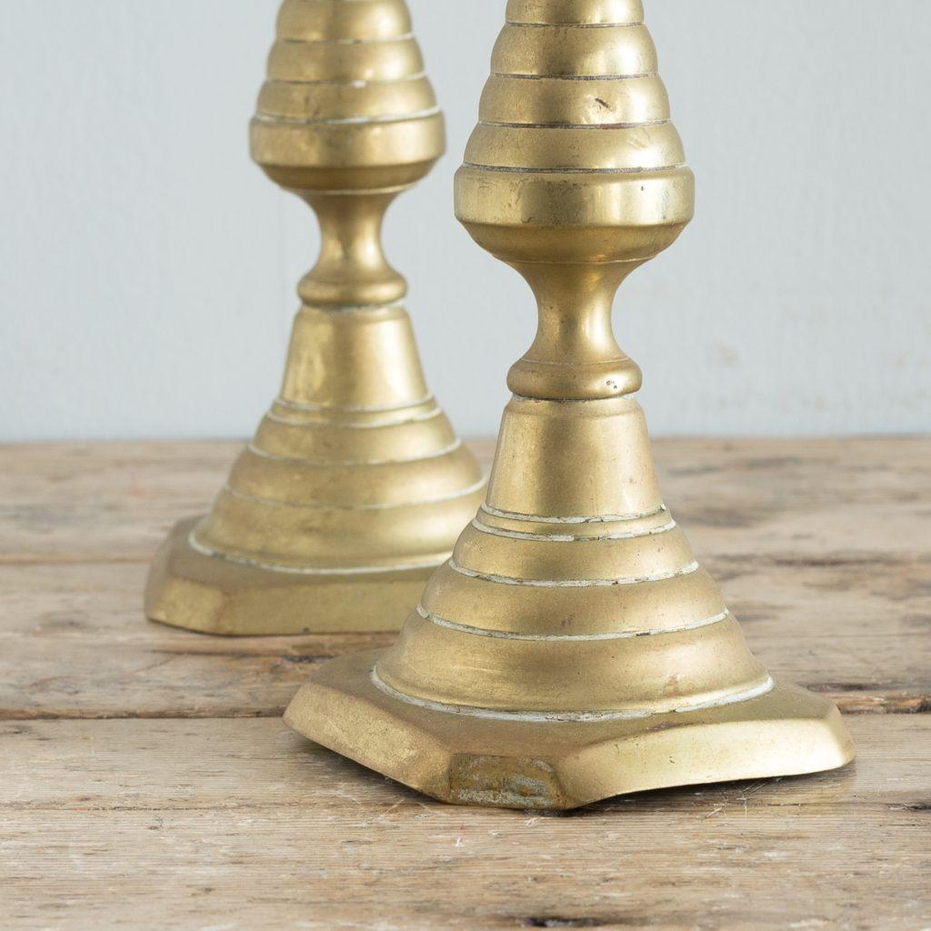 Pair of nineteenth century brass candlesticks,-125818
