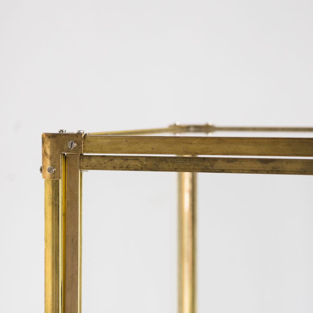 Late nineteenth or early twentieth century brass fusee skeleton clock,-124644