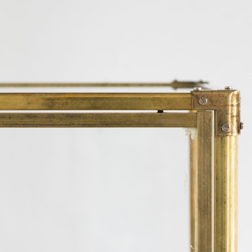 glass and brass case