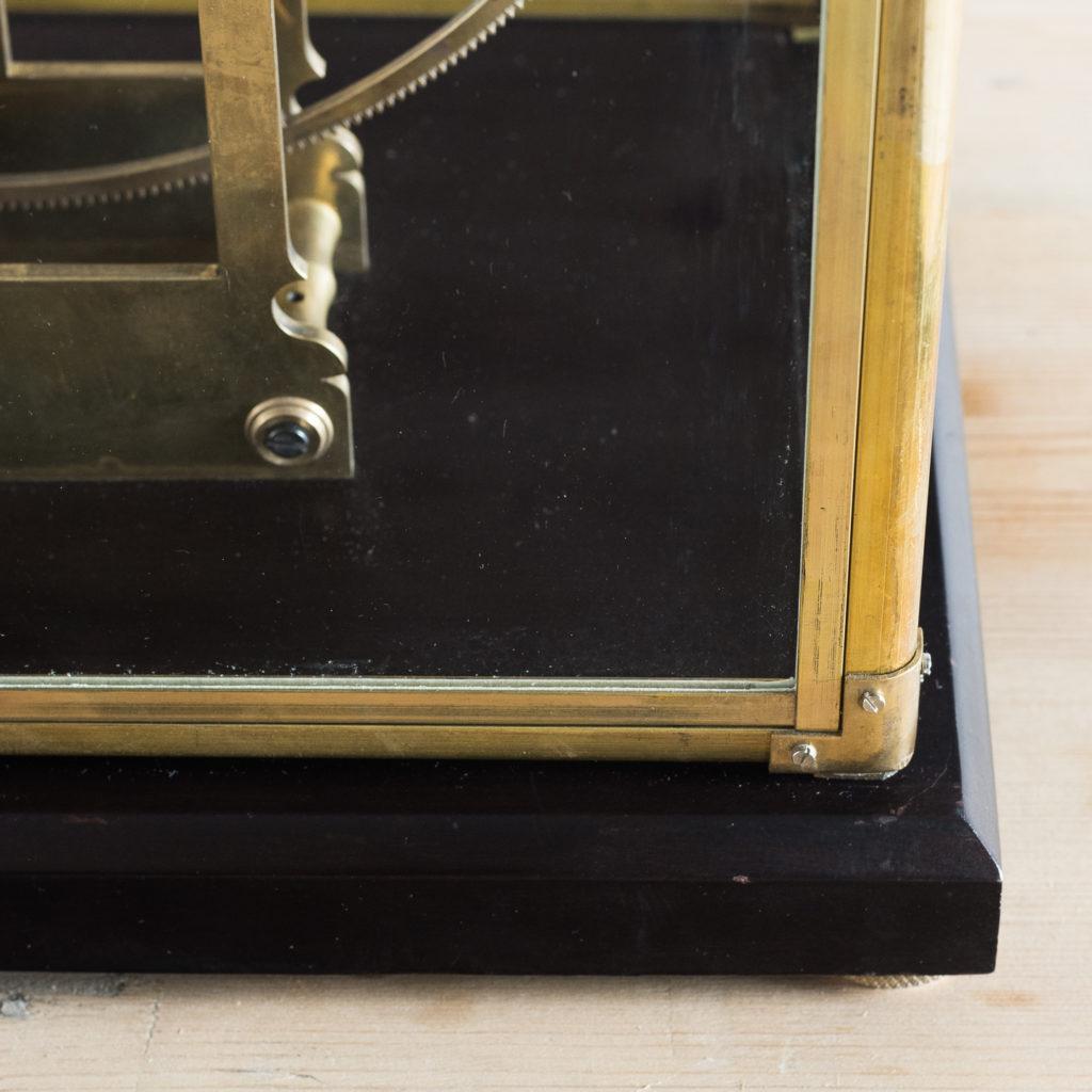 Late nineteenth or early twentieth century brass fusee skeleton clock,-124648