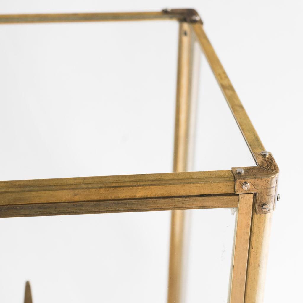 Late nineteenth or early twentieth century brass fusee skeleton clock,-124637