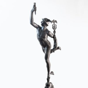 Late Victorian spelter figure of Mercury