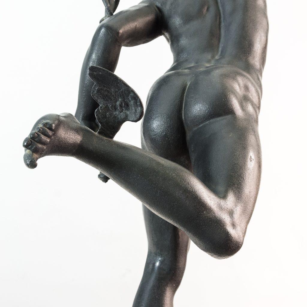 Late Victorian spelter figure of Mercury