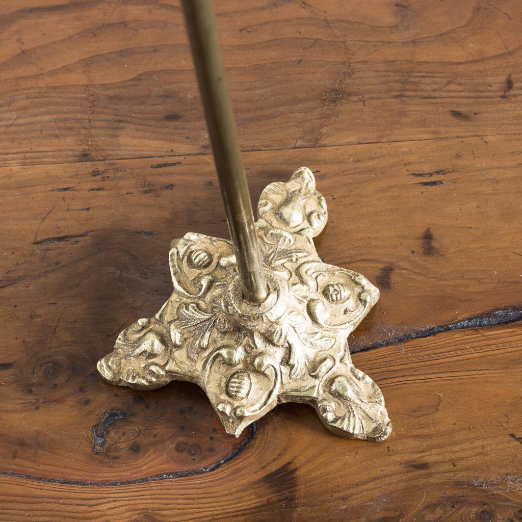 ornate gilt-metal triform base