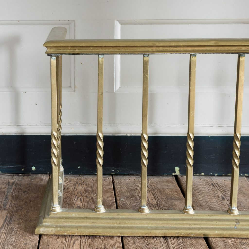 brass seat rail on square section supports