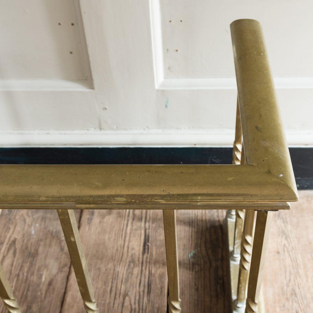 brass seat rail