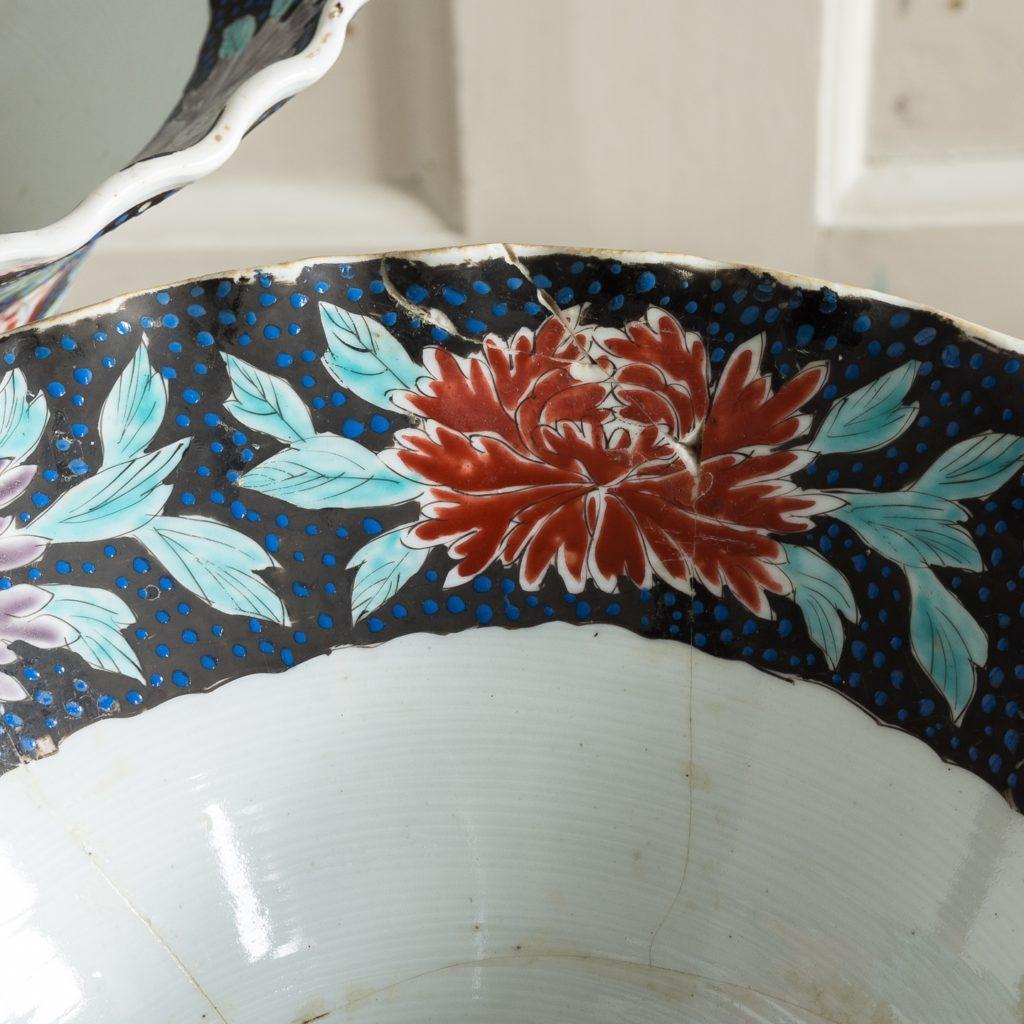 Pair of late nineteenth century Japanese Imari trumpet vases,-125987