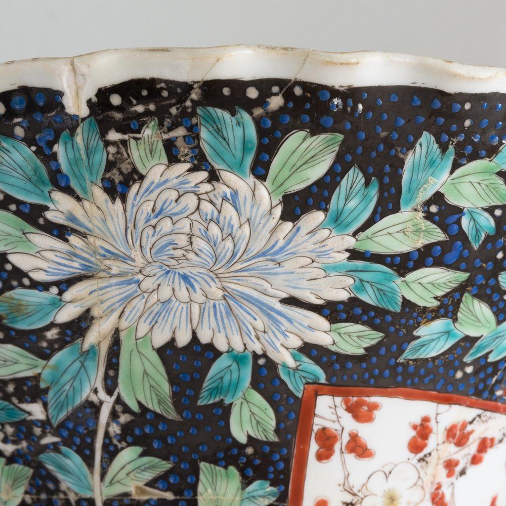 Pair of late nineteenth century Japanese Imari trumpet vases,-125996