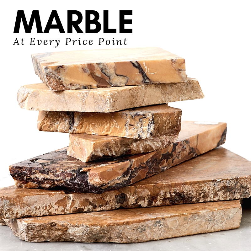 Marble stack with the title 'Marble at Every Price Point'